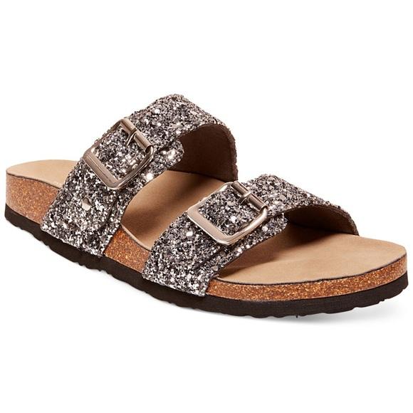 3c443b4cab5 STEVE MADDEN Birkenstock-Style Glitter Sandals NWT